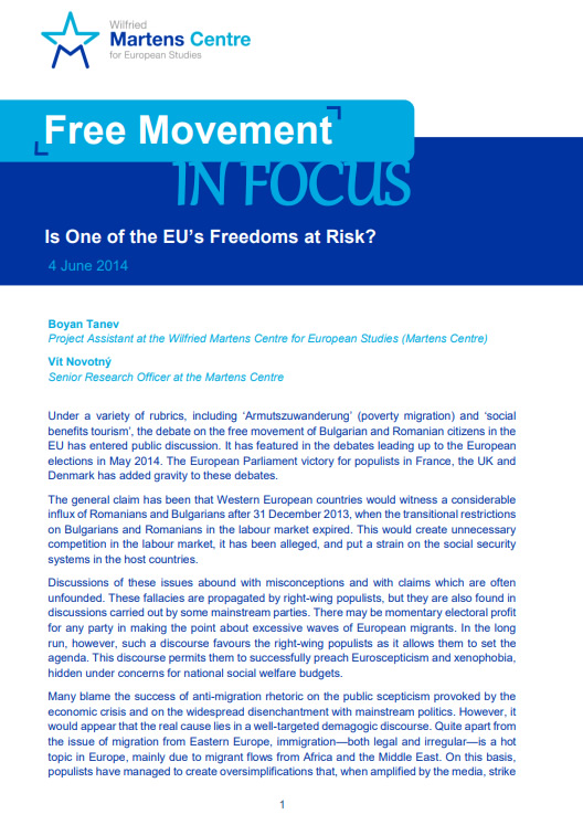 Free Movement: Is One of the EU's Freedoms at Risk?