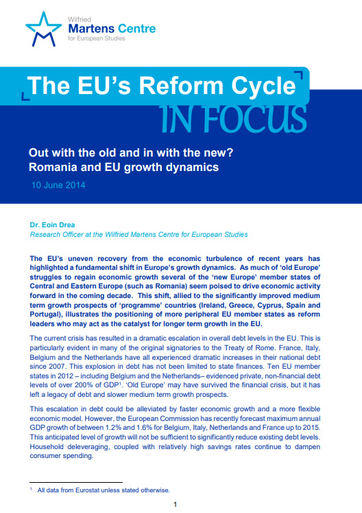 The EU's Reform Cycle: Out with the old and in with the new? Romania and EU Growth dynamics