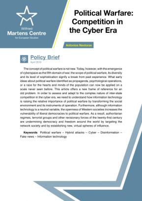 Political Warfare: Competition in the Cyber Era