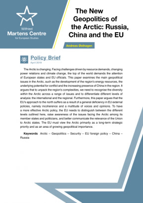 The New Geopolitics of the Arctic: Russia, China and the EU