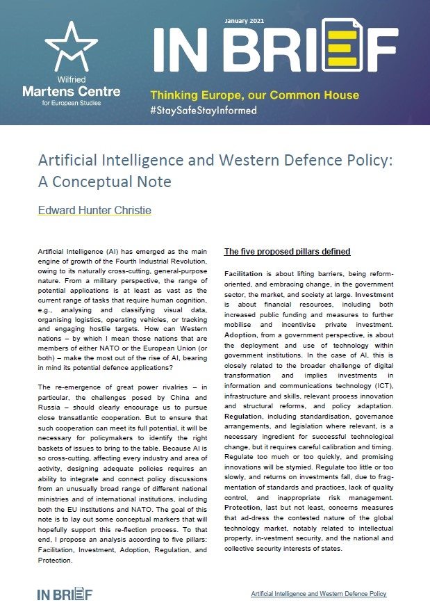 Artificial Intelligence and Western Defence Policy: A Conceptual Note