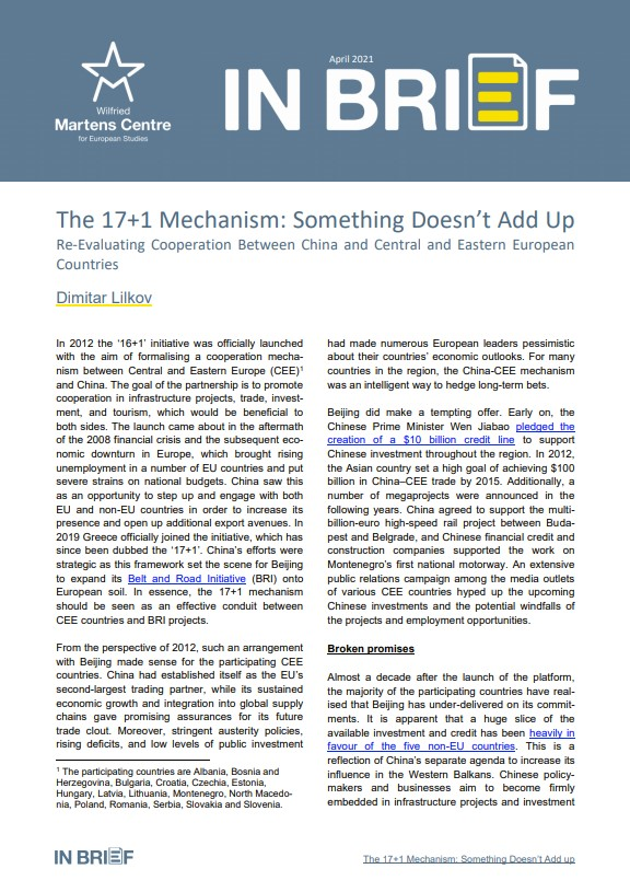 The 17+1 Mechanism: Something Doesn't Add Up