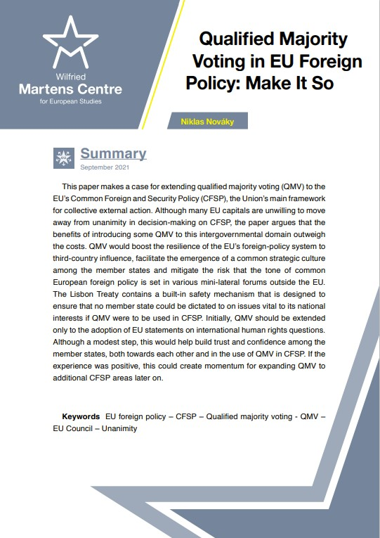 Qualified Majority Voting in EU Foreign Policy: Make It So