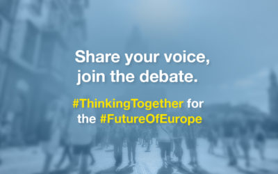 Share your voice, join the debate. Thinking together for the Future of Europe.