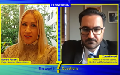 The Week in 7 Questions with Prof. Zoran Ilievski